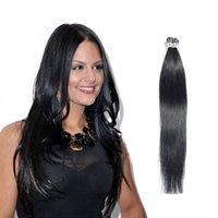 Acheter 18 pouces liaison droite-Haute qualité 0.5g / pcs 50g / lot Femmes pré-collées Fusion I-tip Hair Extensions 16-24 pouces droites Cheveux humains