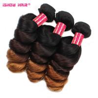 Wholesale Top Quality Brazilian Indian Peruvian Ombre Virgin Hair Tones Loose Wave Brazilian Hair Styles Unprocessed Virgin Hair Bundles