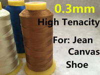 Wholesale 0 mm m Long High Tenacity Polyester Thread for Shoe Jeans Sewing Sewing Machine Thread