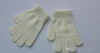 200pairs / lot 15cm enfants hiver chaud mitaines Gants doigt gants fille garçon kids multicolore pur tricot doigt gant