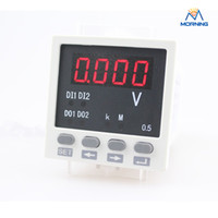 Digital Only DC Electrical ME-DV81 black and white AC 220V single-phase led digital DC high voltage panel meter 48*48 mm