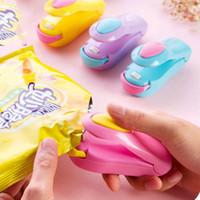 Precio de Bolsas de plástico para alimentos-Sellador de calor de bolsa DHL Mini máquina de sellado de calor portátil Sellador de impulso Sello de embalaje Kit de bolsa de plástico Alimentos ahorrador portátil de mano de viaje presión