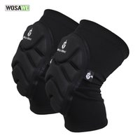 Wholesale WOSAWE Two Pieces Kneepad Skiing Goalkeeper Soccer Football Volleyball Extreme Sports knee pads Protect Cycling Knee Protector BC314