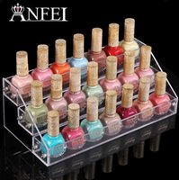 Wholesale 3 Layers Acrylic Nail Polish Display Stand Shelf Rack Makeup Organizer Boxes Cosmetics Storage Box Cosmetic Holder Organizer