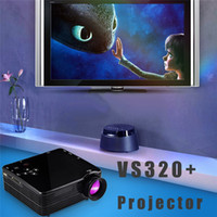 audio learning - VS320 Miniature Projector LED Learning Preschool HD Mini Portable Home Projectors with HDMI USB VGA SD AV Port audio jack DHL ship