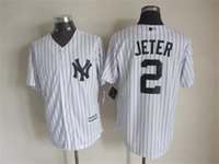 Wholesale 2015 New Fabric New York Yankees Jersey Derek Jeter Black White Grey Stitched Baseball Jerseys Free Drop Shipping