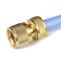 auto brass fittings - Auto Care Durable Brass Threaded Water Pipe Sprayers Connector Tube Snap Fitting Spray Gun Accessories