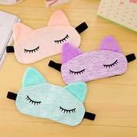 Wholesale Sleep Mask Brands - 3Pcs lot Brand New Lovely Cat Shape Colorful Sleep Mask Travel Sleeping Eye Mask 3 Colors to Choose