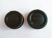Wholesale Pairs camera Body cap Rear Lens Cap N mount for Ni k n D mount SLR DSLR Camera with tracking number
