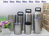 Wholesale Hot OZ Cups Coolerumbler Tumbler Bilayer Stainless Steel Insulation Cup Cars Beer Mug Large Capacity Mug Tumblerful