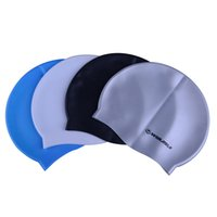Wholesale Winmax blue black white brown four colors chioce swim cap funny silicone swimming cap for adults