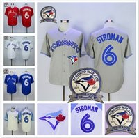 Wholesale 2016 Majestic New Marcus Stroman Jersey Toronto Blue Jays With th Season Patch White Blue Red Grey Baseball Jerseys