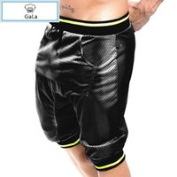 beach slacks - Summer Men s Solid Color Breathable Drawstring Loose and Soft Shorts Beach Shorts Slacks Hip Hop Baggy Harem Sweatpants