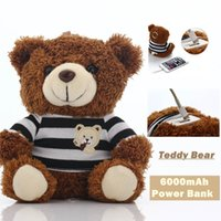 battery stuffed toy - Powerbank Christmas gift iPhone Charger Stuffed toy Teddy Bear mAh Power Bank mah for mobile phone Tablet PC External battery