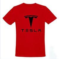 Precio de Coche de camisetas al por mayor-El tamaño al por mayor S-2XL 5 de la CAMISETA de los HOMBRES de la camiseta del coche del automóvil descubierto del modelo S de los Motors-Tesla de la venta al por mayor-Tesla libera el envío