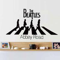beatles mural - Hot Creative Dctop The Beatles Abbey Road Home Decoration Wall Art Decals Wall Stickers Decor Murals Diy