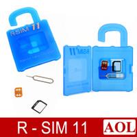 Wholesale Brand newly R SIM RSIM11 r sim11 rsim unlock card for iPhone plus iOS ios7 x CDMA GSM WCDMA SB SPRINT G G