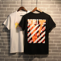 Wholesale New Summer Fashion Collaboration Vetements ASSC OFF White Pablo Cooperation Hip Hop Box Logo Tee T Shirts Men Women Short Sleeve Tshirt