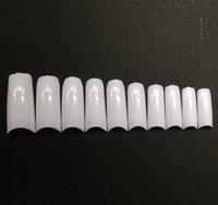 JP4-P acrilic nails - box False Nails Case Set French Clear Acrilic Artificial Fake Half Full Cover White Natural Transparent Skin Tips