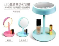Wholesale New LED Makeup Mirror Table Lamp Touch in1 Mirror Lamp Battery Operated or USB Cable Power Supply LED mirror Brightness Adjustable