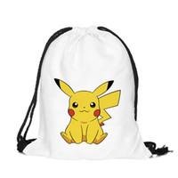 Wholesale 8 X13 Shoulder Bag Pumping Rope Backpack Poke Pikachu Pattern Printed Bundle Mouth Single Sack Bag ELB114