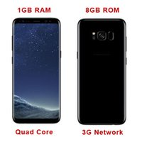 Goofón s8 borde teléfonos celulares 1 GB Ram 8 GB Rom Quad Core s8 Cellpohones Mtk6582 3G red de metal marco S8 Smart Phone DHL gratis