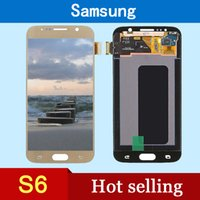 Wholesale High quality AAA LCD for Samsung Galaxy S6 LCD and touch screen digitizer black white gold