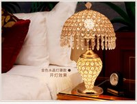 Wholesale Crystal desk lamp continental desk bedroom bed modern simple living room table table decoration creative table lamp wedding gift
