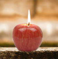 Wholesale 2PCS Simulated Apple Shape Candles Wax Home Birthday Party Wedding Decor Christmas Gift