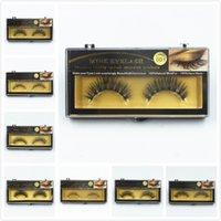Wholesale In stock False Eyelashes Handmade Natural Long Thick Mink Fur Eyelashes Soft Fake Eye Lash extensions Black Terrier Lashes set