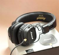 Cheap Marshall Major II With Mic Deep Bass DJ Hi-Fi Headphone HiFi Headset Professional DJ Monitor Headphone SE215