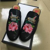 best slipper brand - 2017 European Best Selling women Leather Slippers Genuine Leather Brand Flats Horsebit High Quality Shoes
