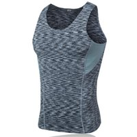 Wholesale Men s tight body PRO sports fitness basketball running training vest stretch perspiration quick drying vest clothes XC016