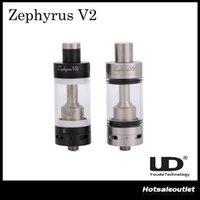 Acheter Zephyrus sous réservoir ohm-Authentique UD Youde Zéphyrus V2 RTA Sub ohm Citerne 6ml Atomiseur 0.2ohm 0.3ohm 0.5ohm 0.6ohm 1.8ohm OCC Double Complet SS Céramique Coil Base