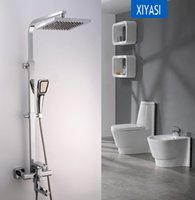 Wholesale Luxury Wall Mounted Brass Bathroom Rainfall Hot and Cold Shower Faucet Set