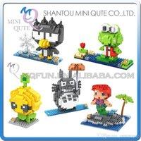 bad models - DHL Mini Qute LOZ Mermaid Mr Bean Mikyo Totoro BAD BADTZ plastic building block brick model Action Figures educational toy