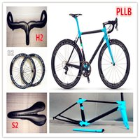 Wholesale Model of Blue Black C60 carbon complete bike with T1000 K UD C road bike carbon Frames mm carbon road bike Wheels