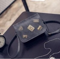 bear brand package - Tide restoring ancient ways the new women s single shoulder bag spring and summer PU iron bear brand handbag aslant BaoXiaoFang package