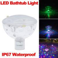 Wholesale Fashion Color LED Underwater Light Float Spa Bathtub Pond Swimming Pool LED Light Disco Holiday Indoor Lighting IP67 Waterproof