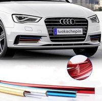 8Meters / Roll Car Styling Ruedas Hub Grille Espejo Retrovisor Plated PVC Trim Strip Stickers Etiquetas Decorativas Rim Universal Auto Accesorios