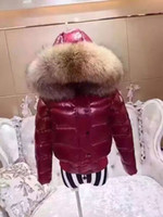 Wholesale winter lady s Down Jackets high quality popular style woeman big fox fur hat coat hot sell new outwear white duck down coat size