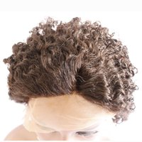 Wholesale Chinese Hair Loose Wave Lady GaGa s Hairstyle Human Hair Lace Wigs French Lace Average Size Light Brown Under