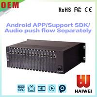 Precio de Hd militar-H3160 teleconsulta militar H.264 16 canales HD codificador MI para el aprendizaje a distancia en línea iptv codificador http