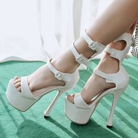 Wholesale SJJH fashion women roman high heel and thick platform sandals hot sell pumps for wedding party PP040