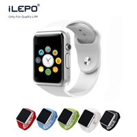Wholesale Mobile watch phones A1 smartwatch wrist men ware bluetooth D touch screen cell phone watch with M Camera