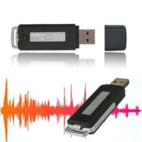 Wholesale Mini Portable Hidden USB USB Drive Disk Audio Voice Recorder One key Recording Black Digital Voice Recorder
