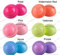 Wholesale 2017 D Lipstick New Makeup Round Ball Moisturizing lip balm Natural Plant Sphere lip Pomade lip balm Fruit Embellish Care MYY