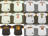 Wholesale 2017 Men s San Diego Padres GARRY TEMPLETON ALAN WIGGINS KEVIN McREYNOLDS Throwback Baseball Jersey Stitched