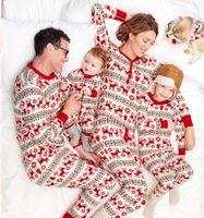Wholesale Merry Christmas Kids Pajamas Winter Family Wear Children Reindeer Pattern Sleepwear Boys And Girls Pajamas Boutique Xmas Nightwear Clothing