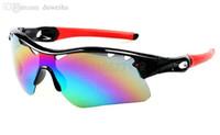 al por mayor la entrega de la bicicleta-Las gafas de sol del radarlock de las mujeres calientes del VENDER-NUEVO color fijan la entrega bicycling del epacket de las gafas de sol de los anteojos de los gafas de sol del deporte del marco.